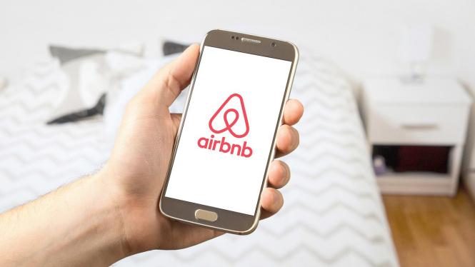 Ilustrasi layanan Airbnb