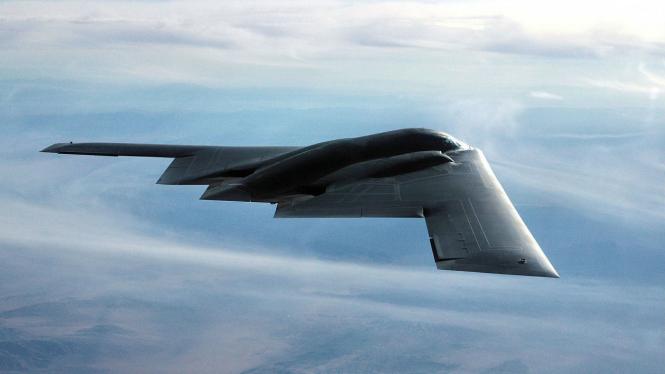 Ilustrasi pesawat pengebom Amerika Serikat.