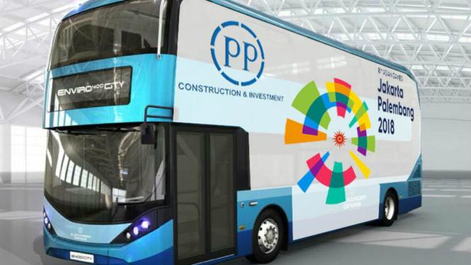 Ilustrasi bus berbasis hidrogen kerja sama Indonesia dan Inggris
