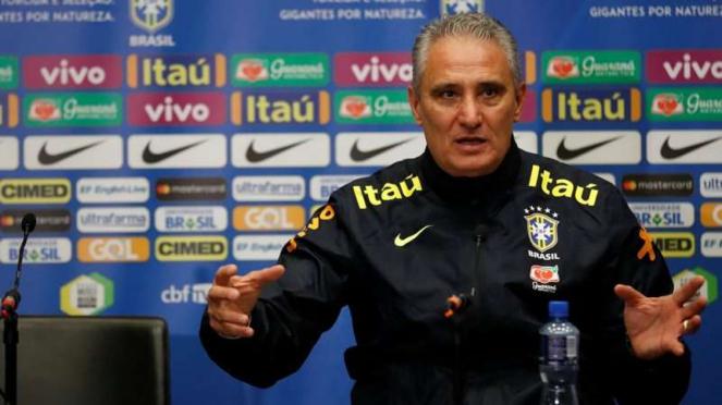 Pelatih Timnas Brasil, Tite.