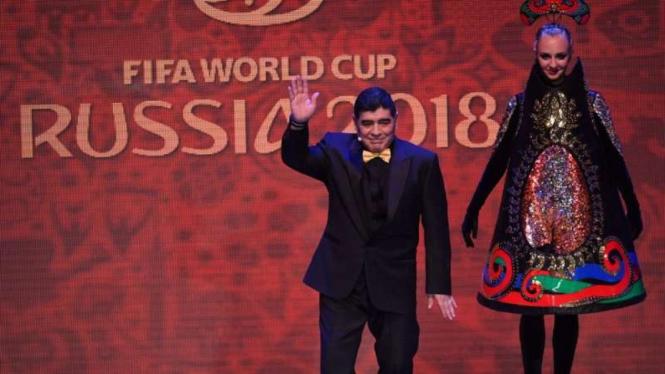 Penampilan Maradona pada Pengundian Piala Dunia 2018