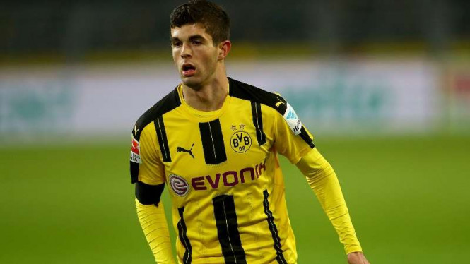 Gelandang Borussia Dortmund, Christian Pulisic.