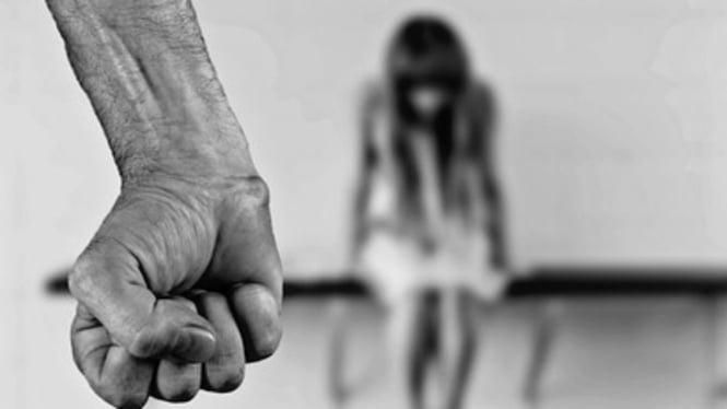 Ilustrasi kekerasan terhadap wanita.