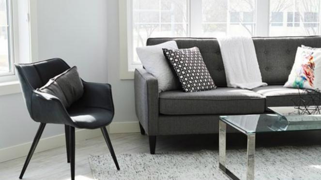 Ilustrasi perabot rumah minimalis.