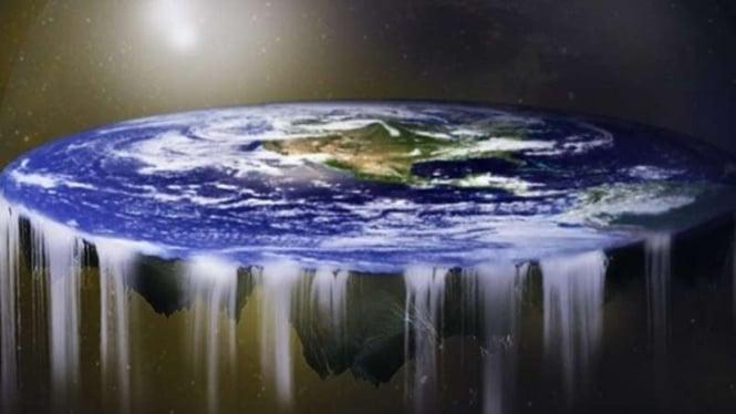 Ilustrasi Bumi Datar.