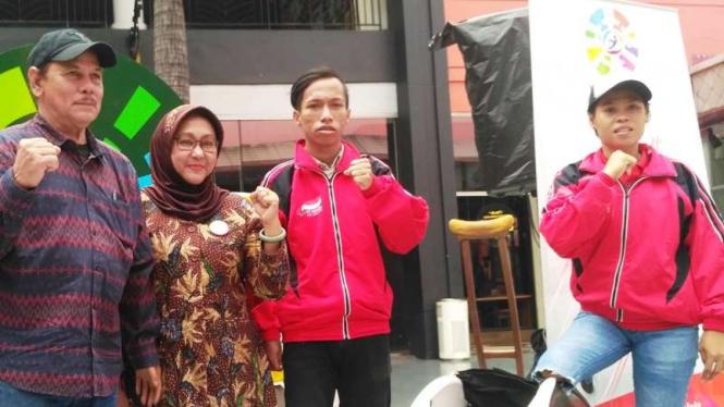Atlet Balap Kursi Roda di Asian Para Games 2018, Maria Goreti Samiyati