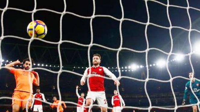 Arsenal vs Liverpool di Emirates Stadium.