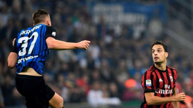 Pertandingan Serie A antara Inter Milan melawan AC Milan