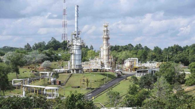 Tempat pengolahan minyak dan gas bumi di Blok Mahakam, Kutai Kartanegara