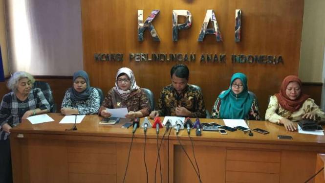 Jumpa pers Komisi Perlindungan Anak Indonesia (KPAI).