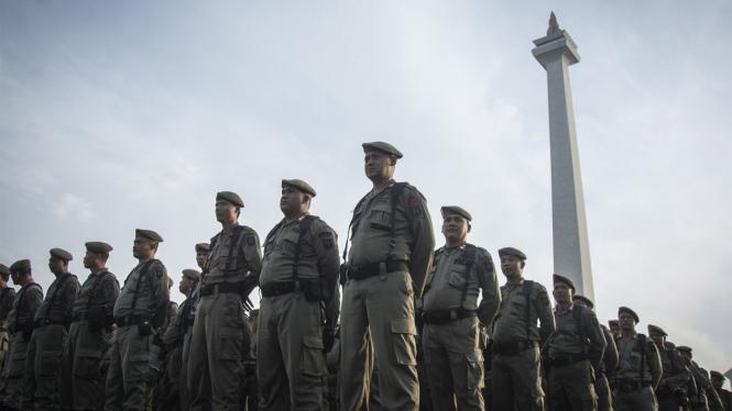 Ilustrasi Satpol PP DKI Jakarta.
