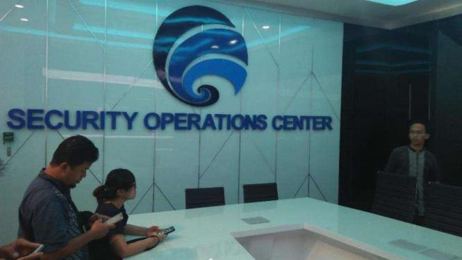 Ruang Pengambil Keputusan di Security Operations Center Kominfo.
