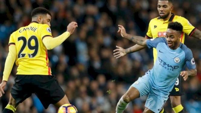 Pertandingan Manchester City kontra Watford di ajang Premier League