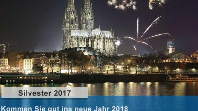 Ucapan selamat tahun baru 2017 dari Kepolisian Cologne