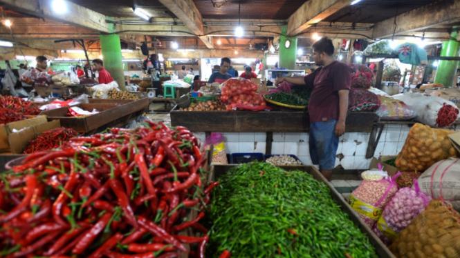 Pasar tradisional (foto ilustrasi)