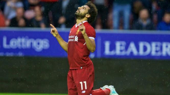 Mohamed Salah, pemain Liverpool.