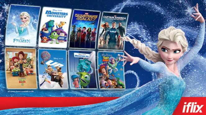 Judul-judul seru dari Disney, Pixar & Marvel di iflix.