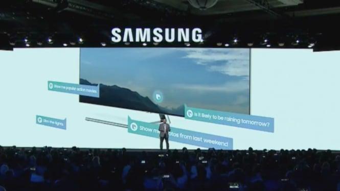 Samsung di CES 2018, Las Vegas, Amerika Serikat.
