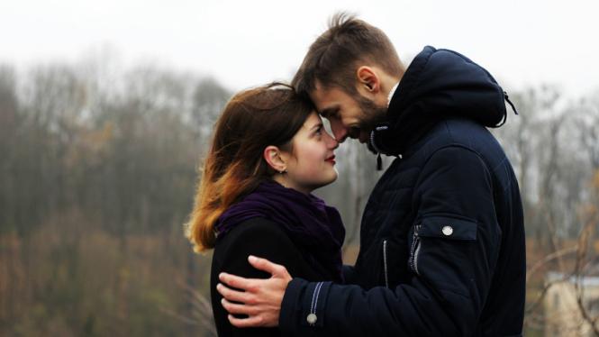 Ilustrasi pasangan/liburan romantis.