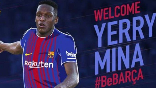 Yerry Mina resmi berseragam Barcelona.