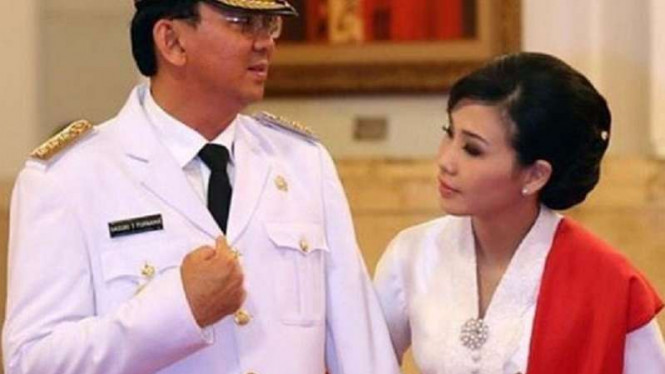Basuki Tjahaja Purnama dan Veronica Tan.