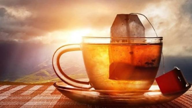 Ilustrasi kantung teh.