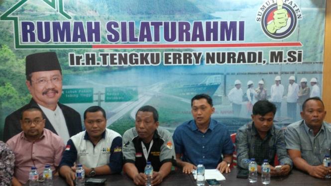 Pendukung Gubernur Sumatera Utara, Erry Nuradi