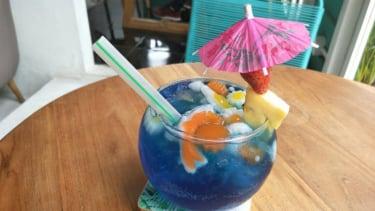 Aquarium Happiness, salah satu menu di Happiness Kitchen & Coffee, Bintaro, Tangerang.