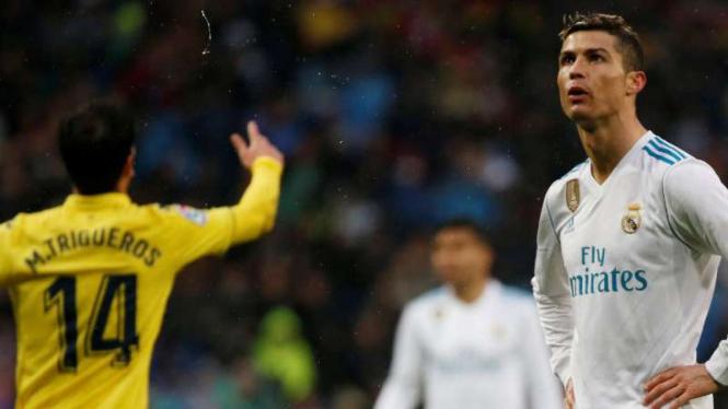Real Madrid saat takluk dari Villarreal.