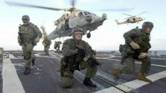Ilustrasi pasukan khusus Navy SEAL.