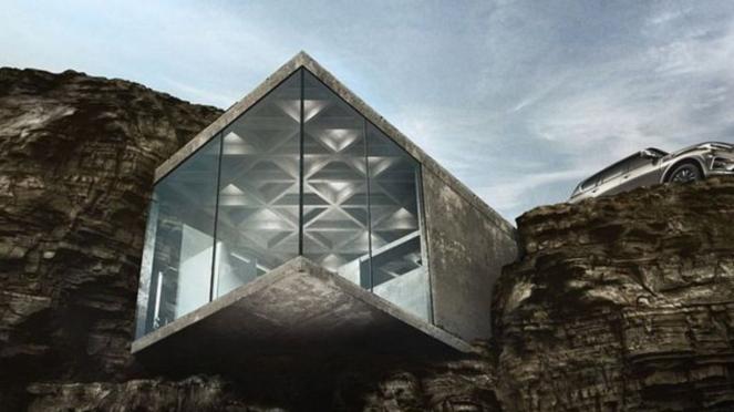 Kabin Maralah di atas tebing Calgary, Kanada