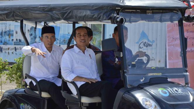 Gubernur Nusa Tenggara Barat, Muhammad Zainul Majdi, bersama Presiden Jokowi beberapa waktu lalu.