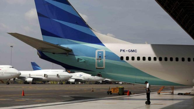 Hanggar Pesawat Terbang Garuda Indonesia di Bandara Soekarno-Hatta Tangerang