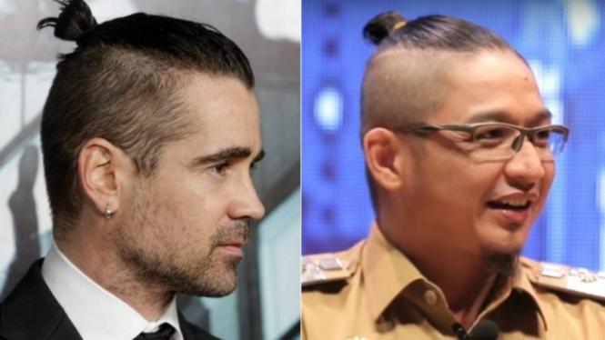Gaya rambut Colin Farrell dan Pasha 20bbbd83af