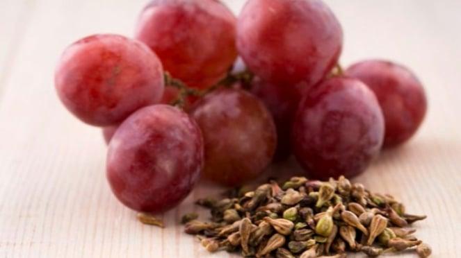 Ilustrasi biji anggur.