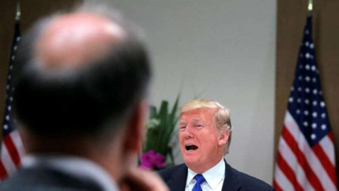 Presiden AS Donald Trump di pertemuan CEO World Economic Forum Davos