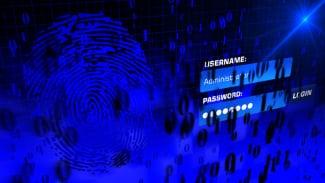 Ilustrasi data pribadi dan password.