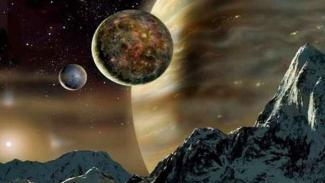 Ilustrasi kehidupan alien.