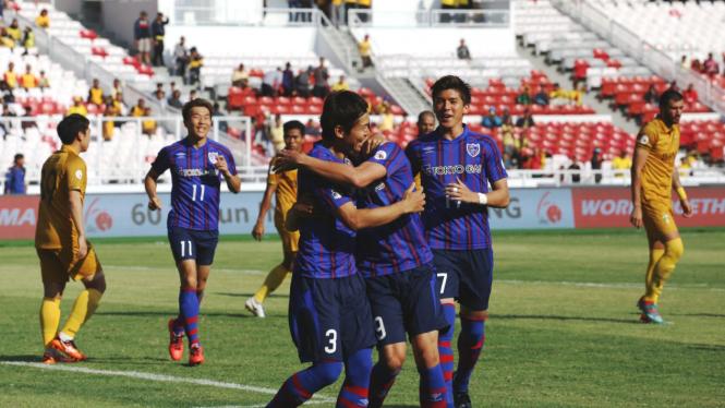 Selebrasi pemain FC Tokyo