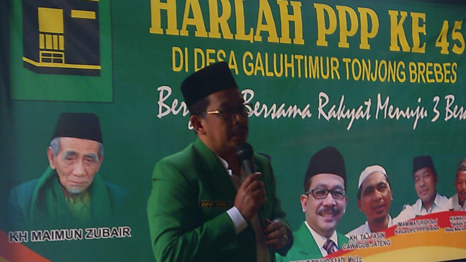 Anggota DPR dari Fraksi Persatuan Pembangunan Zaenut Tauhid Saad.