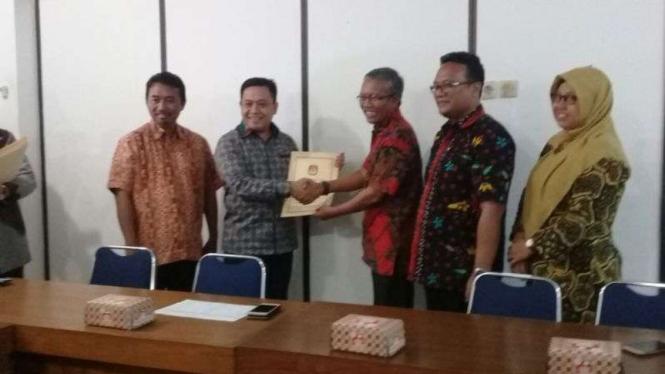 KPU verifikasi faktual PKPI Jateng, Rabu, 31 Januari 2018.