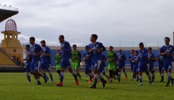 Suasana latihan skuat Persib Bandung