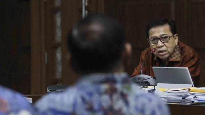 Terdakwa kasus korupsi pengadaan KTP elektronik,  Setya Novanto