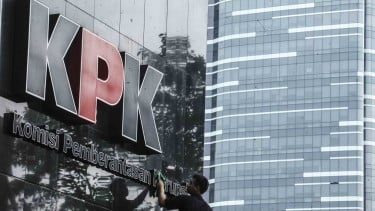 Kantor Komisi Pemberantasan Korupsi - KPK di Jakarta.