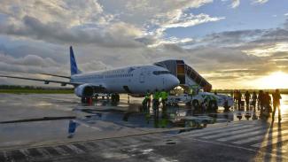 Pesawat Maskapai Garuda Indonesia.