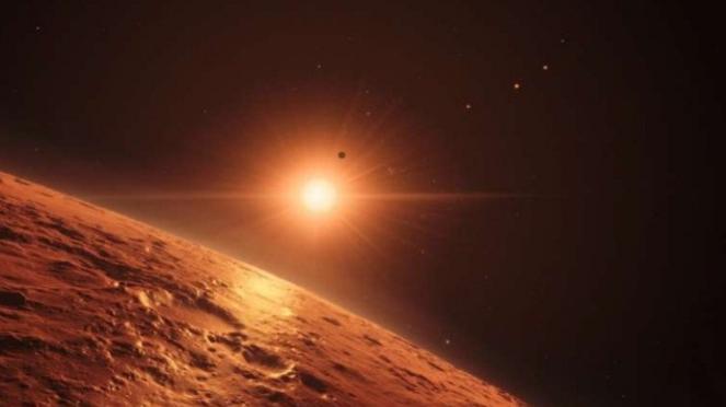 Salah satu planet Trappist-1.