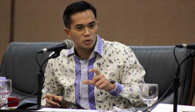 Presiden Direktur VIVA Media Group, Anindya Novyan Bakrie, dalam forum Konvensi Nasional Media Massa di Padang, Sumatra Barat, pada Kamis 8 Februari 2018.
