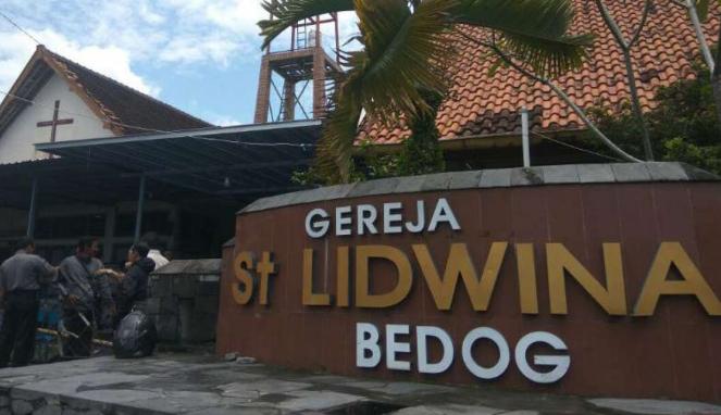 Gereja St. Lidwina, Bedog, Sleman yang menjadi lokasi serangan.