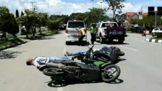 Ilustrasi korban kecelakaan lalu lintas.