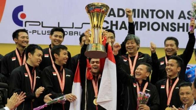 Tim putra Indonesia juarai Badminton Asia Men's Team Championships 2018